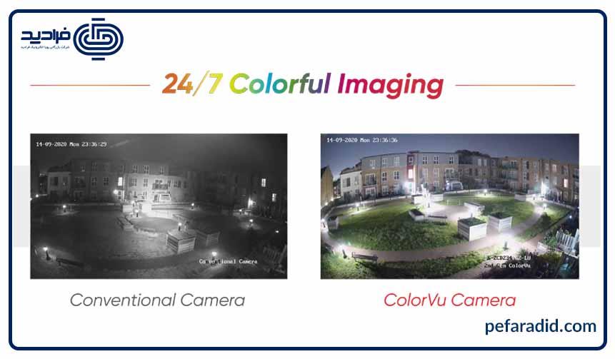 دوربین های مداربسته هایک ویژن دید در شب تمام رنگی نسل دوم,colorvu hikvision,پویا الکترونیک فرادید