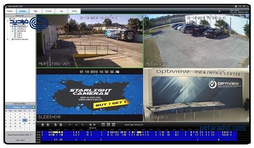 نرم افزار نظارت دوربین های مداربسته هایک ویژن و داهوا,فرادید,پویا الکترونیک فرادید