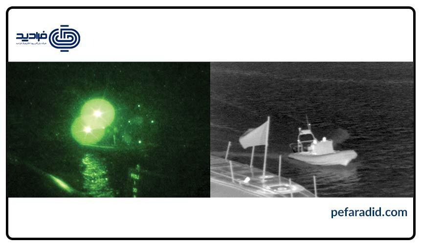 رزولوشن دوربین مداربسته دید در شب در دریا, فرادید , پویا الکترونیک فرادید,
